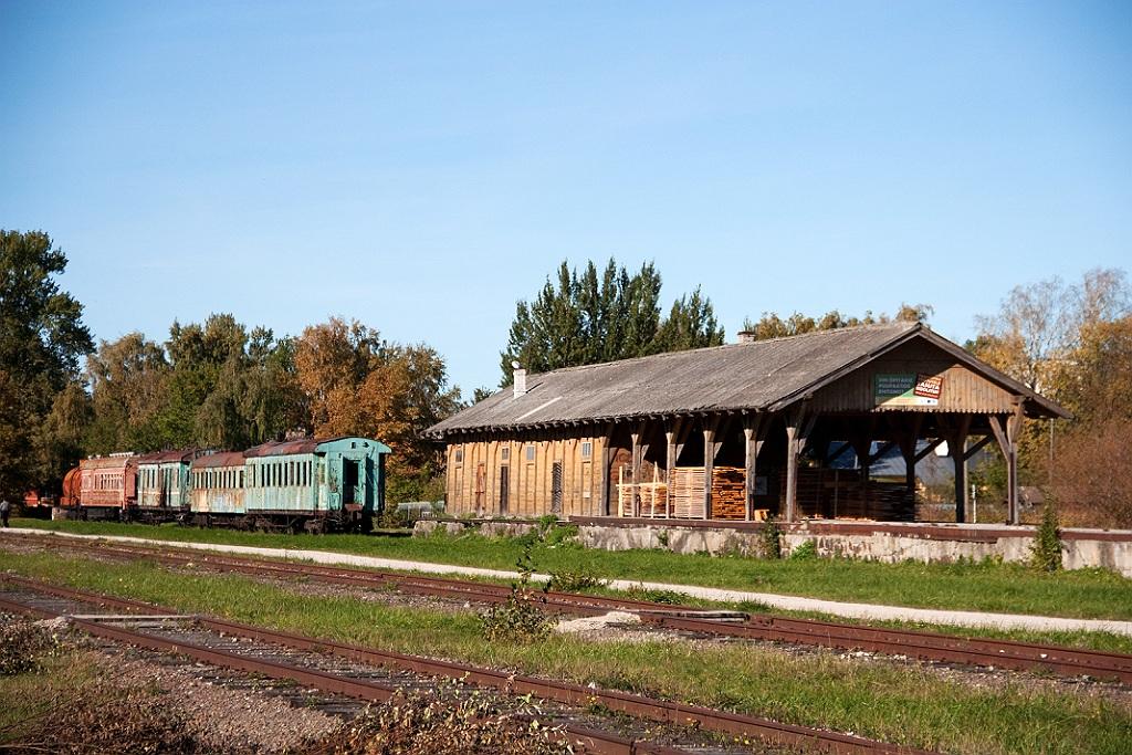 Железнодорожный музей на станции Хаапсалу.  Светофор,водонапорная башня.